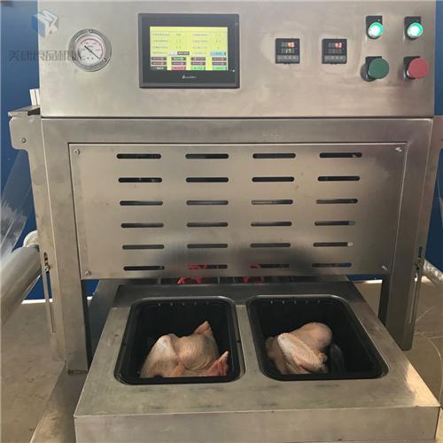 牛小排盒式气调锁鲜包装机工作原理