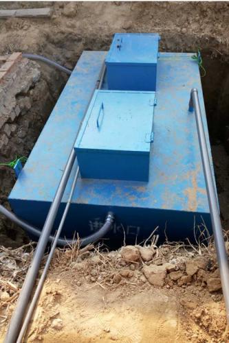 安徽一体化污水处理设备施工现场