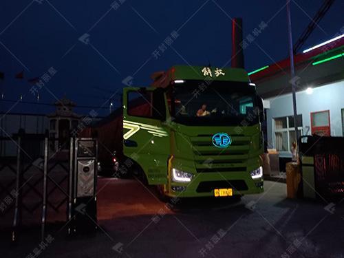 丽星机械发往四川广元的大型即食粉丝加工设备装车完成