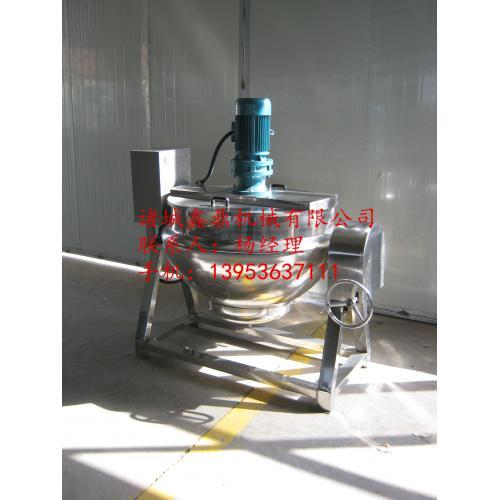諸城市鑫鼎電加熱帶攪拌可傾斜式夾層鍋夾層鍋、蒸煮熬制鍋