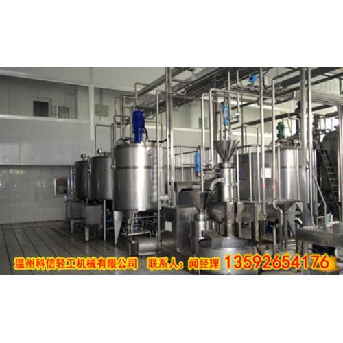 番茄饮料制作设备|成套小型番茄汁生产线|科信易拉罐灌装机