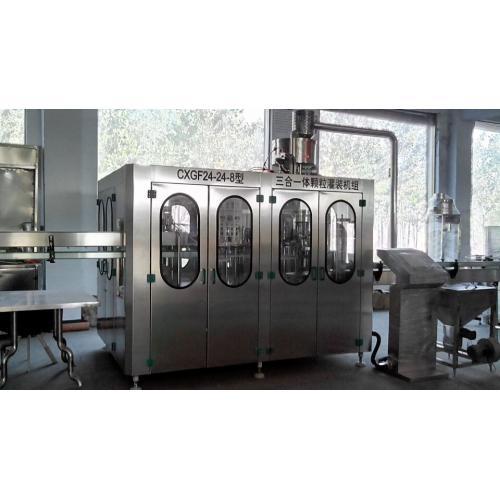 科信全自动果粒灌装机|制作果粒果肉饮料的设备|果粒饮料生产线