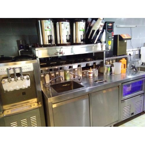 奶茶机果汁机奶茶店全套设备冷冻操作台开水器保温桶封口机台湾益