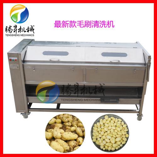 大型自动瓜果清洗机 大产土豆/莲藕清洗去皮机