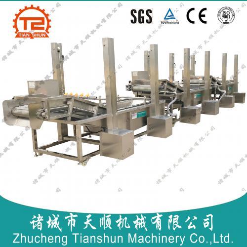 TSXQ-30型专用西葫芦果脯加工设备流水线(西葫芦清洗机)