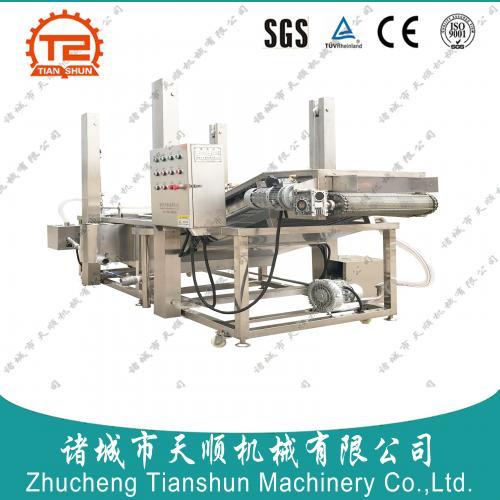 潍坊天顺牌供应连续式SUS304不锈钢海产品龙须菜清洗流水线