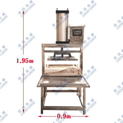 全自动数控气动豆干压干机豆腐机