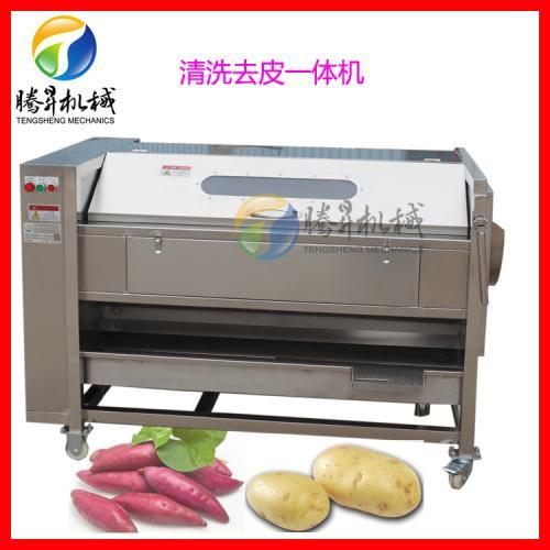 新款土豆清洗机 毛棍/毛滚去皮清洗机