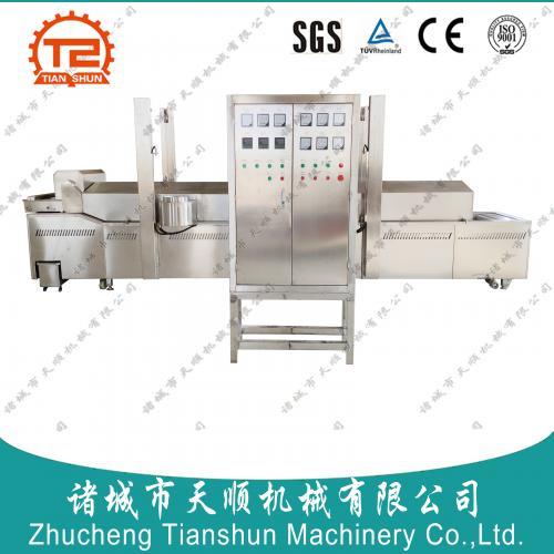 304不锈钢生产米兰虾饼油炸线(油炸广东小卷机械设备)
