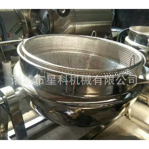 自动倒料夹层锅 水饺馅料搅拌夹层锅 行星搅拌夹层锅星科机械