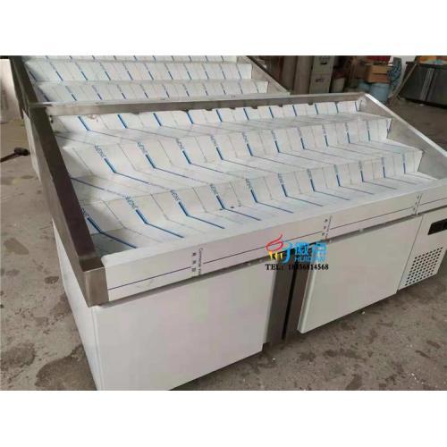 明档式多层菜品自选柜 定制自助餐菜品冷藏柜 上掀门小菜柜