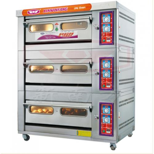 新南方大型商用三层六盘燃气烤箱,液化气面包蛋糕蛋挞烤箱
