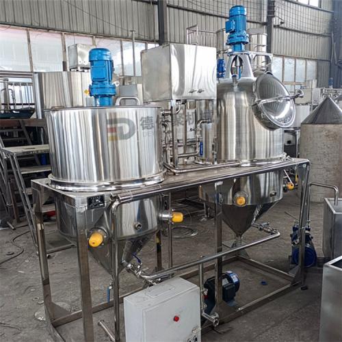 全套榨油設備 油坊榨油精煉機 小型兩罐精煉設備