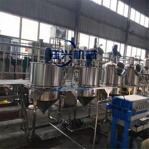 大豆花生壓榨精煉生產線 毛油精煉設備